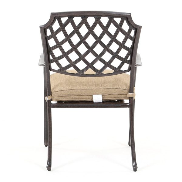 Agio Heritage patio dining chair back view