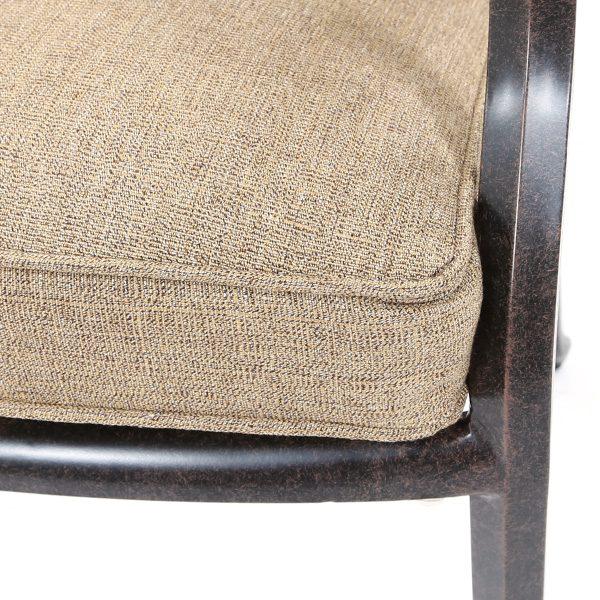 Agio Heritage Sunbrella Sesame Linen fabric detail