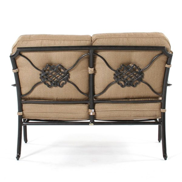 Heritage love seat back view