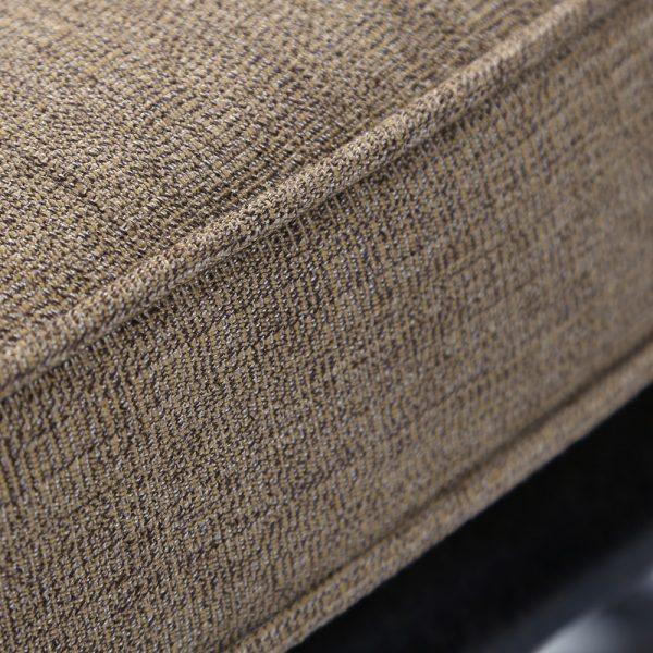 Agio Heritage swivel rocker with Sunbrella 8318 Sesame linen fabric