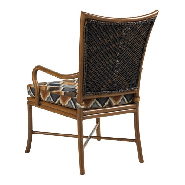 Tommy Bahama Island Estate Lanai wicker dining arm chair back view