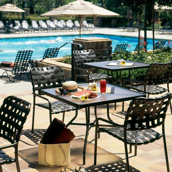 Kahana cross strap patio furniture collection