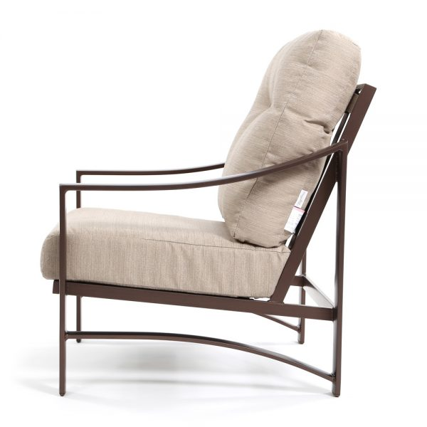 Kenzo aluminum club chair side view