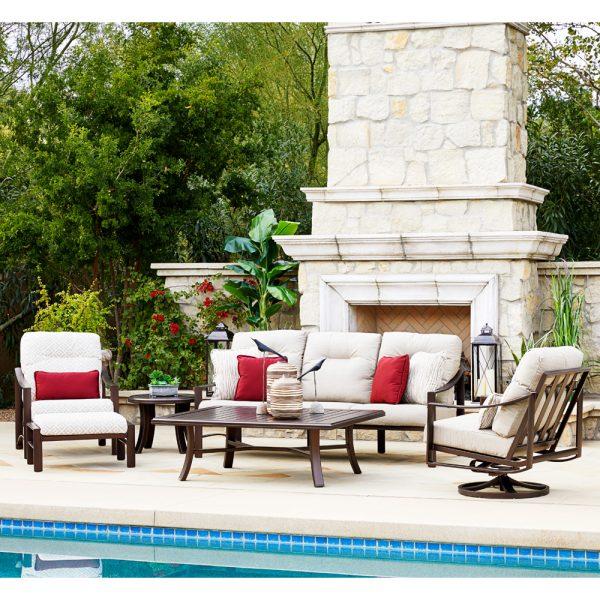 Tropitone Kenzo aluminum patio furniture collection