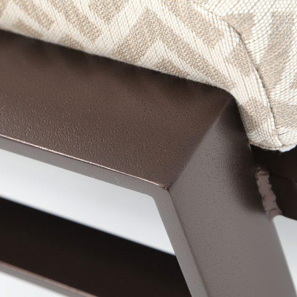 Kenzo aluminum ottoman with a Espresso powder coat finish