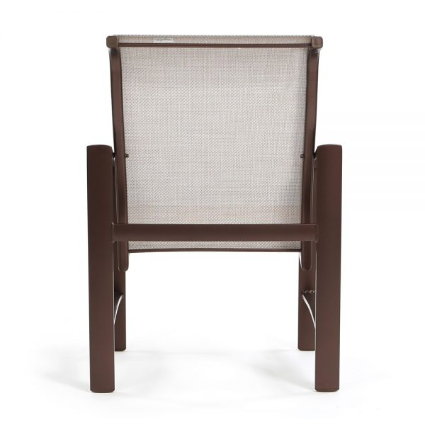 Tropitone patio dining chair back view