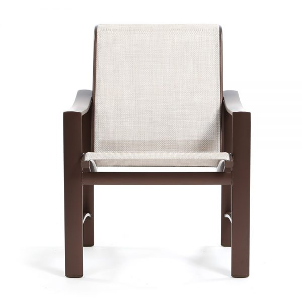 Tropitone Kenzo sling dining chair front view
