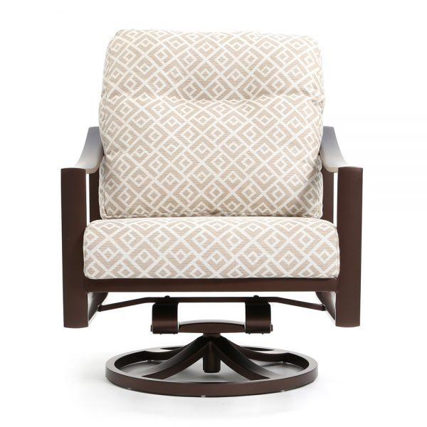 Tropitone Kenzo swivel rocker lounge chair front view