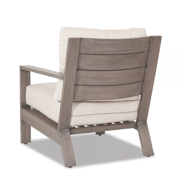 Laguna aluminum lounge chair back view
