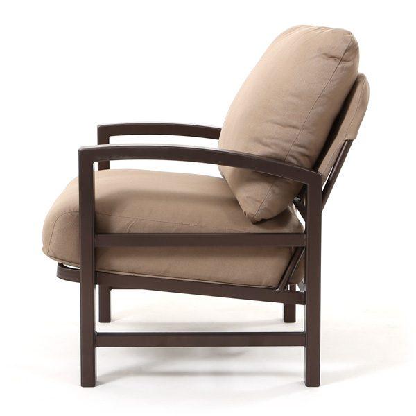 Lakeside aluminum club chair side view