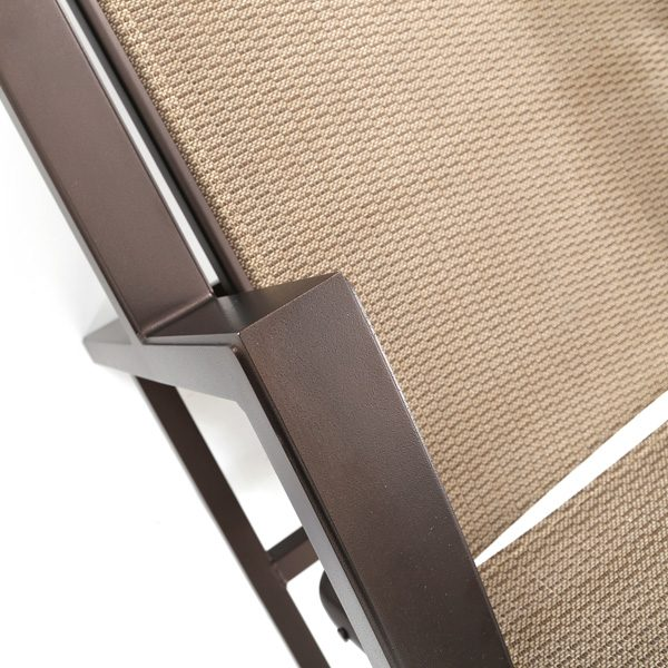 Tropitone Lakeside Espresso aluminum frame finish detail