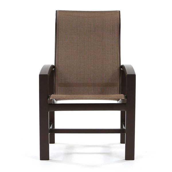 Tropitone Lakeside outdoor sling dining chair front view