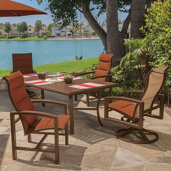 Tropitone aluminum padded sling patio furniture