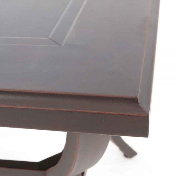 Sunvilla Laurel aluminum end table with a Copperhead powder coat finish