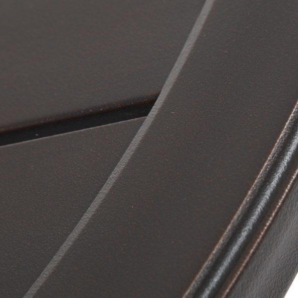 Sunvilla Laurel aluminum bar table with a Copperhead powder coat finish