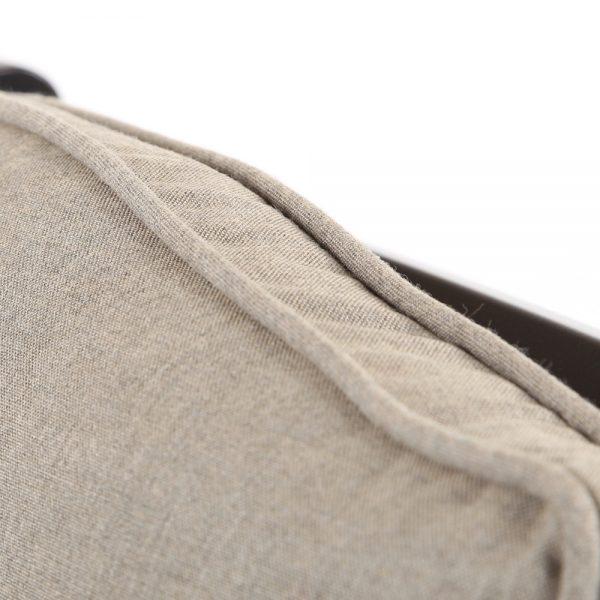 Laurel barstool with Sunbrella Cast Shale fabric