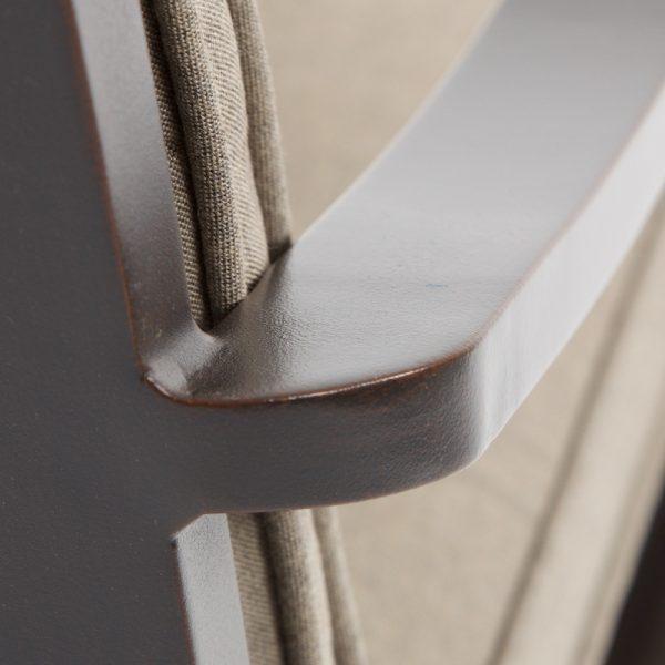 Laurel aluminum patio furniture with a copperhead finish