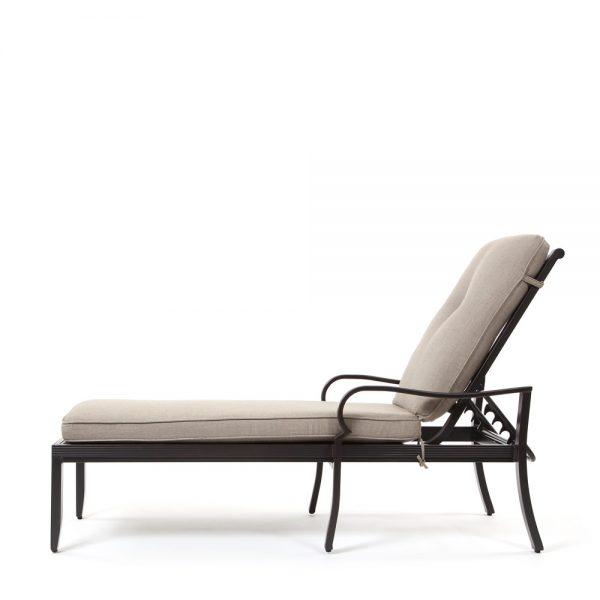 Laurel aluminum chaise lounge side view