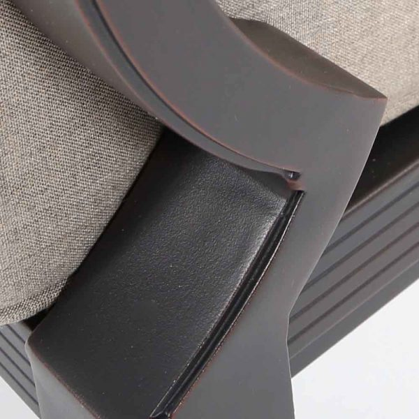 Sunvilla Laurel aluminum lounge chair with a Copperhead powder coat finish