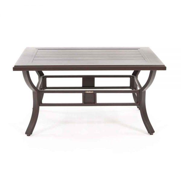 Laurel aluminum patio coffee table front view