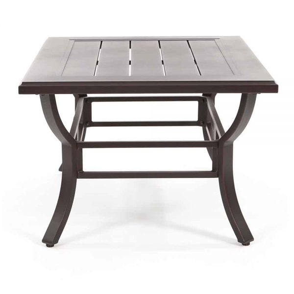 Laurel outdoor coffee table side view
