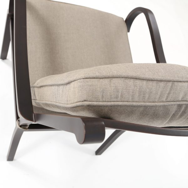 Sunvilla Laurel aluminum patio dining furniture with Cast Shale Sunbrella fabric