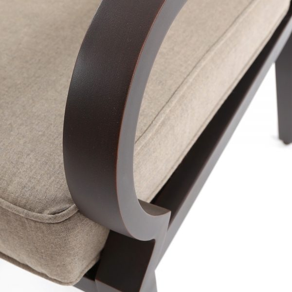 Sunvilla Laurel aluminum dining furniture with a Copperhead powder coat finish