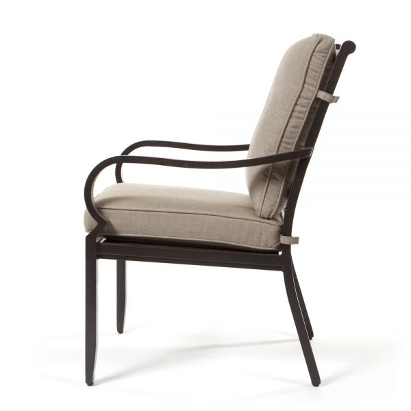 Laurel patio dining chair side view