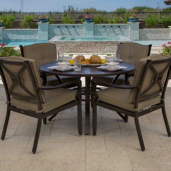 Laurel aluminum outdoor dining furniture