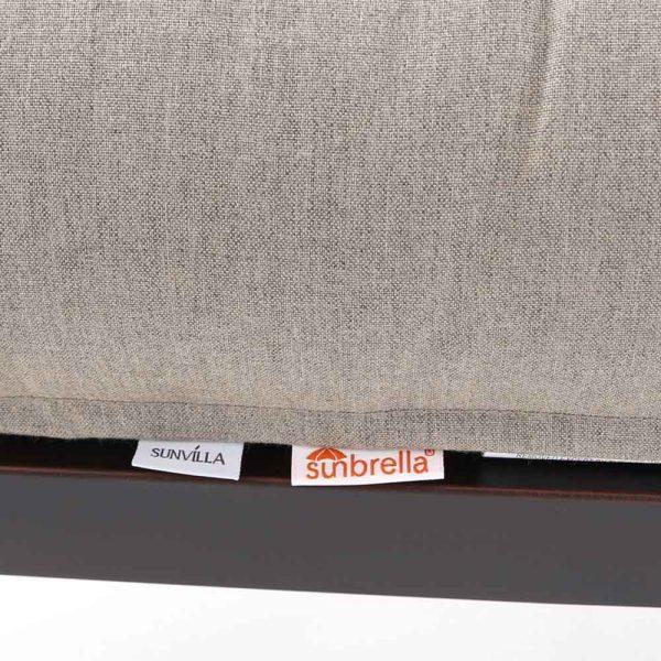 Sunvilla Laurel ottoman with Cast Shale Sunbrella fabric