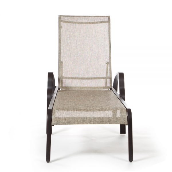 Laurel sling outdoor chaise lounge front view