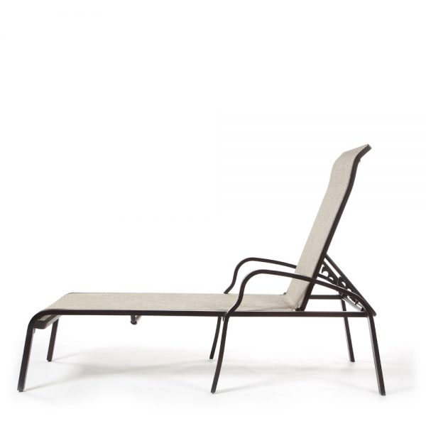 Sunvilla Laurel sling chaise lounge side view