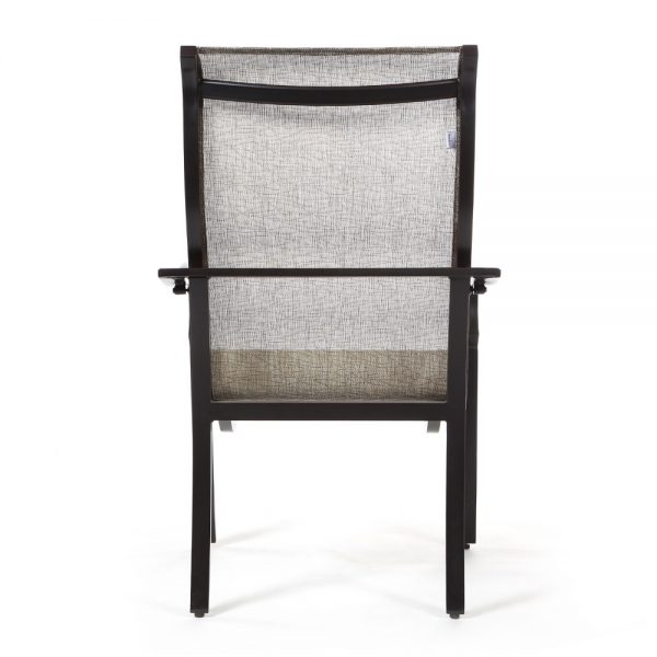 Laurel sling patio dining chair back view
