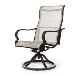 Laurel sling swivel rocker dining chair