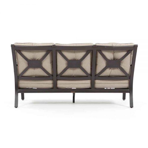Laurel aluminum patio sofa back view