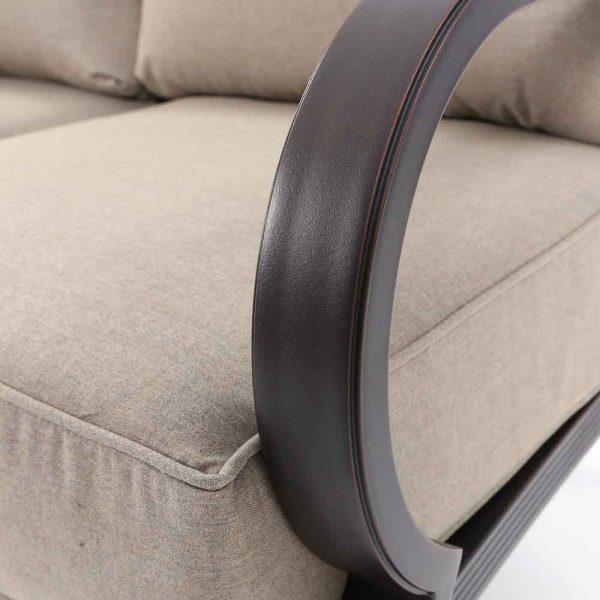 Sunvilla Laurel aluminum sofa with a Copperhead powder coat finish