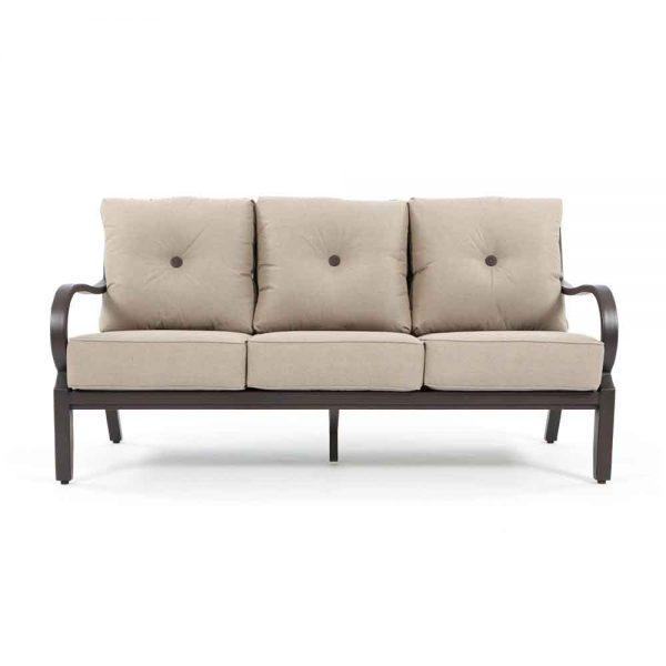Sunvilla Laurel aluminum outdoor sofa front view