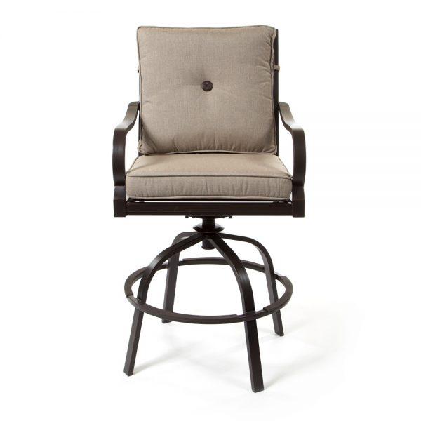 Laurel patio bar stool front view