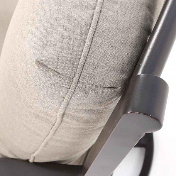 Sunvilla Laurel swivel club chair with Cast Shale Sunbrella fabric