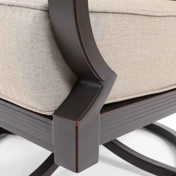 Sunvilla Laurel aluminum swivel lounge chair with a Copperhead powder coat finish