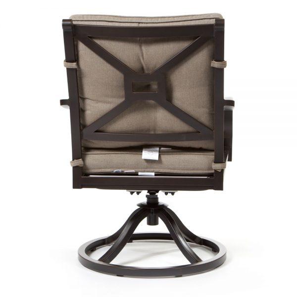 Laurel outdoor swivel rocker dining chair back view