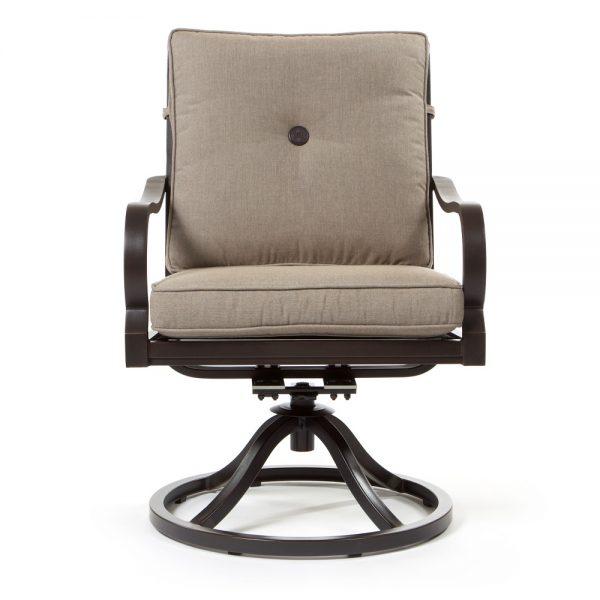 Sunvilla Laurel swivel rocker dining chair front view
