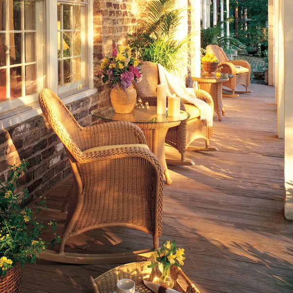 Classic Wicker patio rocker chairs