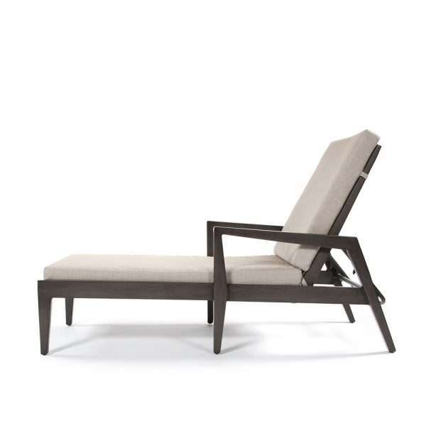 Ratana aluminum chaise lounge side view