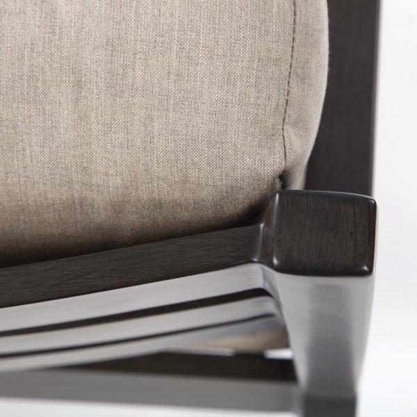 Ratana Lucia aluminum club chair with a ASG Ash Grey powder coat finish
