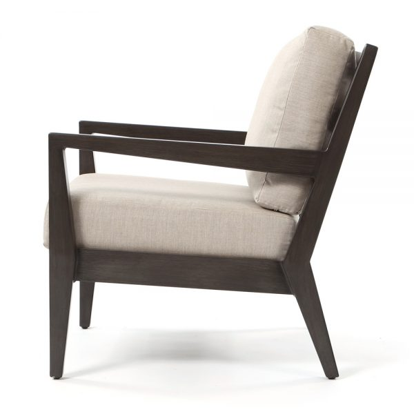 Lucia aluminum patio chair side view