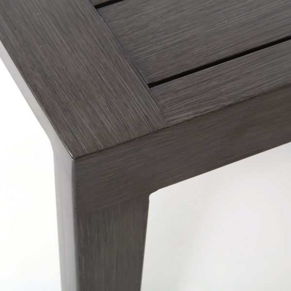Lucia patio coffee table with Ash Grey powder coat finish