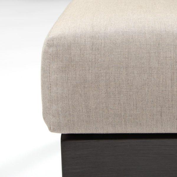 Lucia sectional furniture with Sunbrella Cast Ash fabric