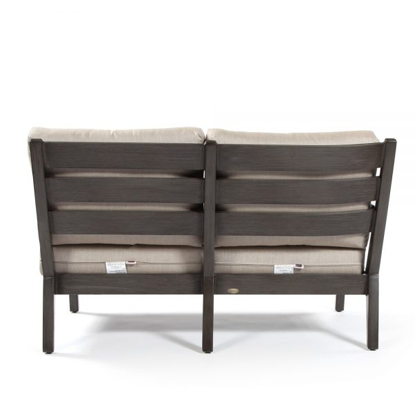 Lucia aluminum outdoor love seat section unit