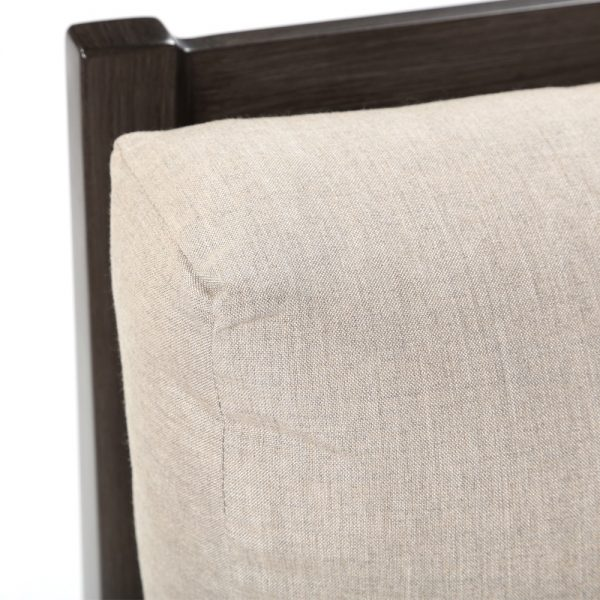 Lucia sectional chair with Sunbrella Cast Ash fabric